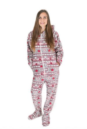Christmas Dream Kajamaz: Footed Pajamas For Adults