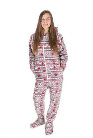 Christmas Dream Kajamaz: Footed Pajamas For Adults