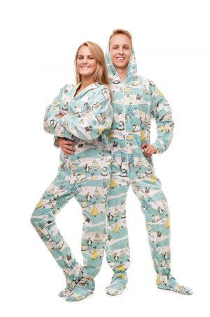 Christmas Morning Kajamaz: Footed Pajamas for Adults