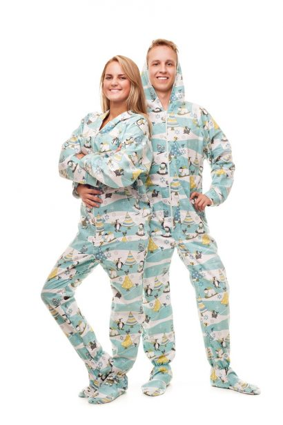 Christmas Morning Kajamaz: Footed Pajamas for Adults