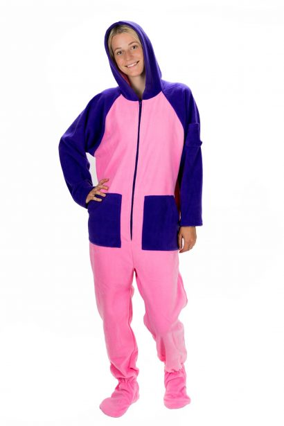 Cotton Candy Kajamaz:  Adult Footed Pajamas