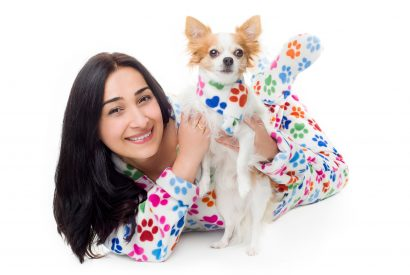 Dog Paws Kajamaz: Matching Fleece Dog Scarfz