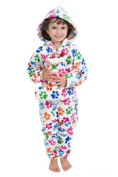 Dog Pawz Go-Jamz Kidz: Kids Fleece Jumpsuit