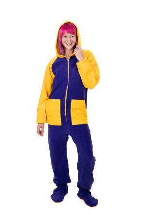 Lemon Splash Kajamaz: Footed Pajamas for Adults