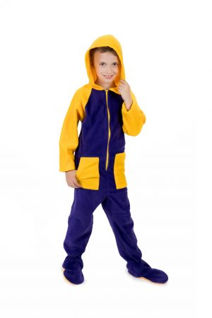 Lemon Splash Kajamaz Kidz: Footed Fleece Pajamas For Kids