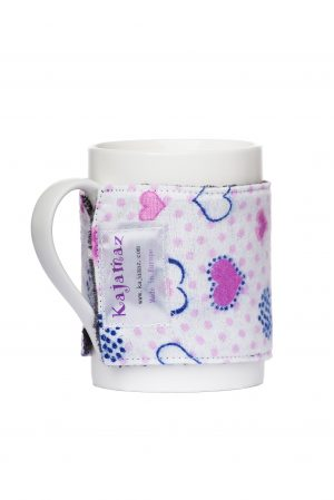 Love Snowflakes Flannel and Fleece Mug Jamz - Flannel Mug Warmer