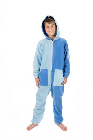 Sky Blues Go-Jamz Kidz: Kids Fleece Jumpsuit
